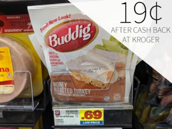 Buddig Single Serving Lunchmeat As Low As 19¢ Each At Kroger