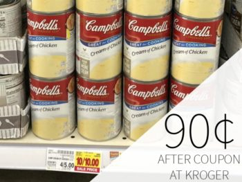 Campbell's Condensed Soup Just 90¢ Per Can At Kroger 1