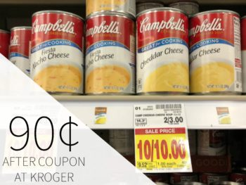 Campbell's Condensed Soup Just 90¢ Per Can At Kroger