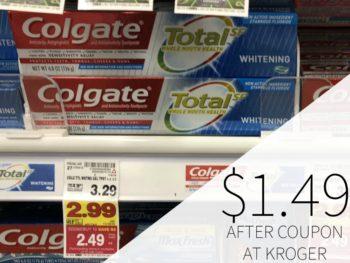 New Colgate Coupon - Just $1.49 At Kroger