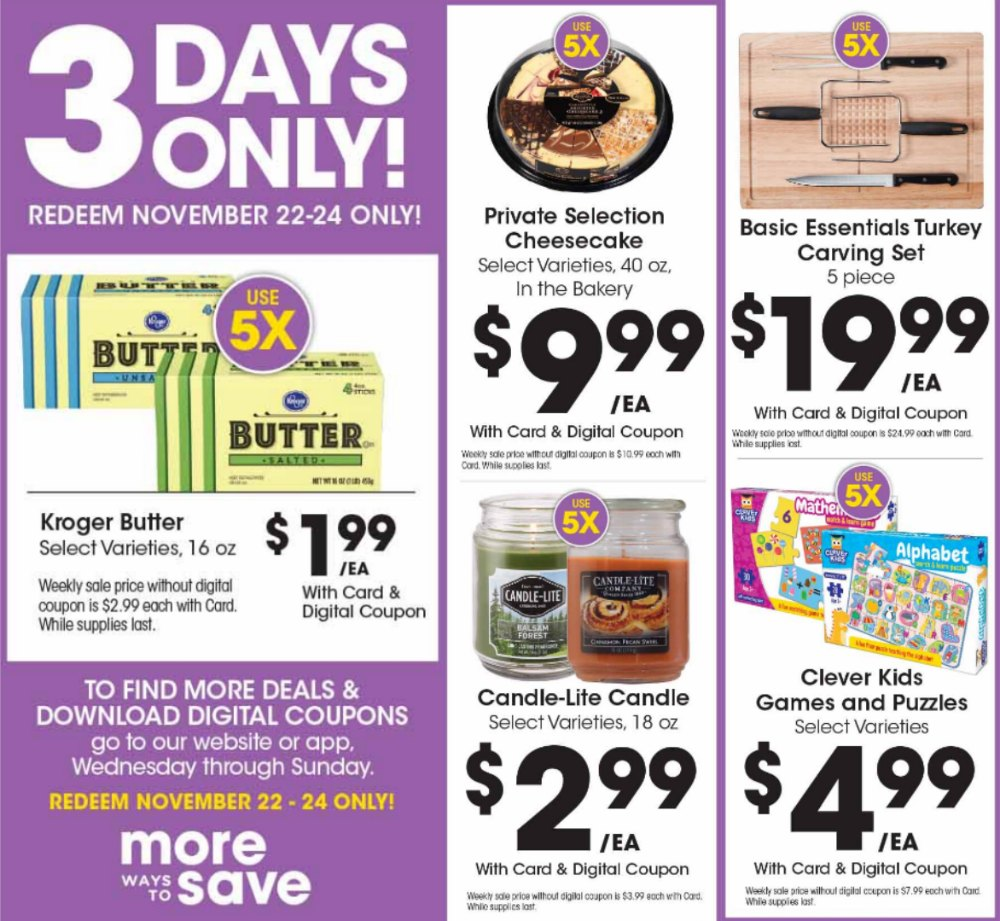 Load Your Coupons For The 3 Days Of Digital Deals (Valid 11/15 to 11/17)
