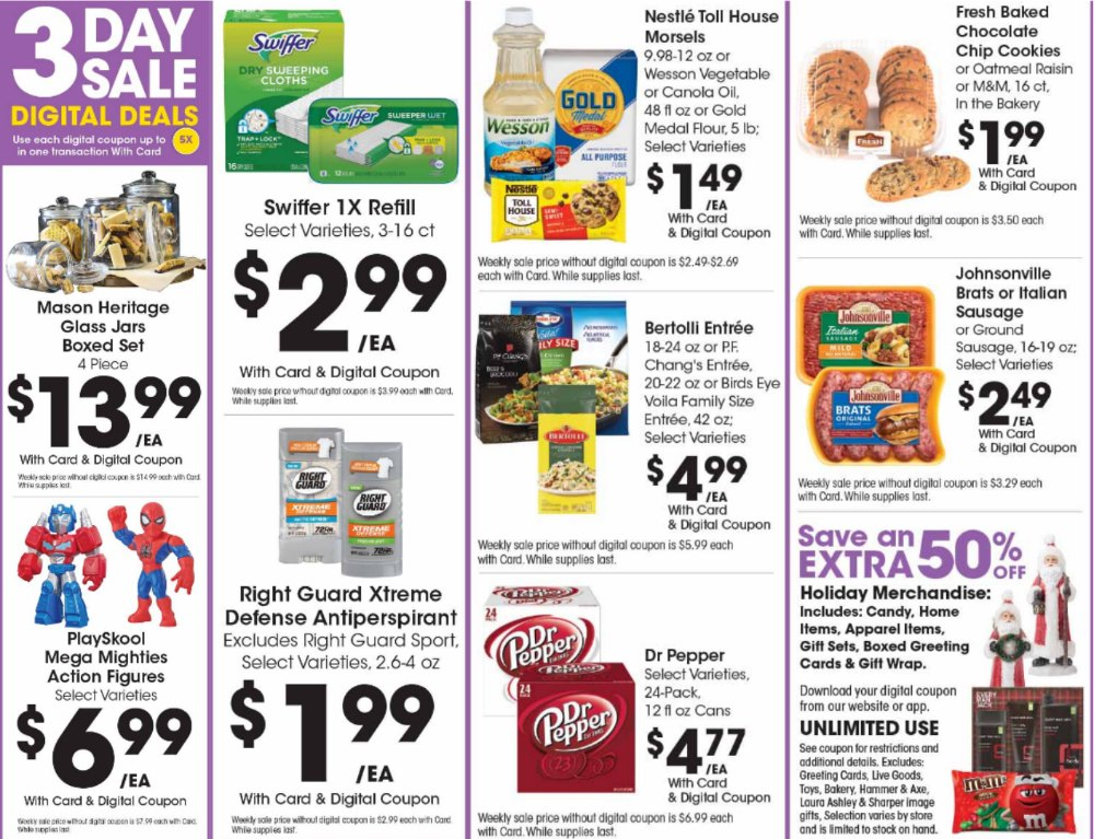 Load Your Coupons For The 3 Days Of Digital Deals (Valid 12/6 to 12/8)