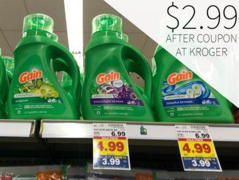 Gain Liquid Laundry Detergent Just $2.99 At Kroger