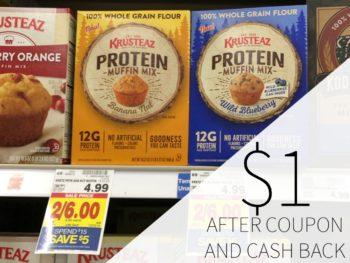 Krusteaz Protein Muffin Mix Just $1 At Kroger