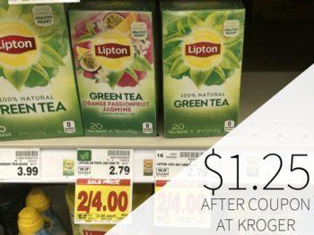 Lipton Tea Bags Just $1.25 At Kroger