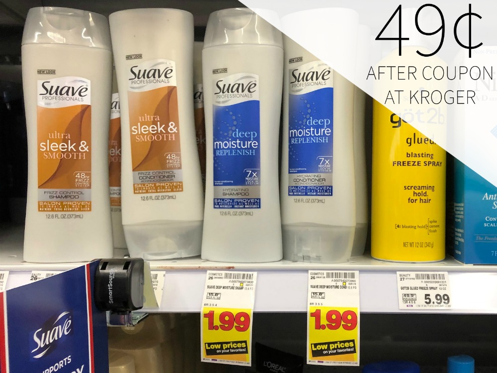 New Suave Hair Care Coupons Great Deals Including Hair Care As Low As 49 At Kroger