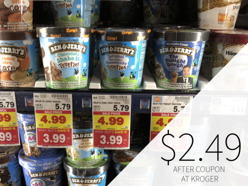 Ben & Jerry's Ice Cream Just $2.49 At Kroger