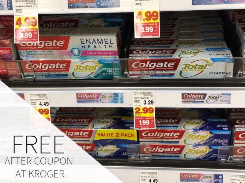 FREE Colgate Total SF Toothpaste At Kroger