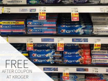 Crest Toothpaste As Low As FREE At Kroger