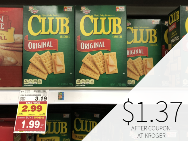 Keebler Town House Or Club Crackers As Low As $1.37 At Kroger 1