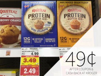 Krusteaz Protein Muffin Mix Just 49¢ At Kroger