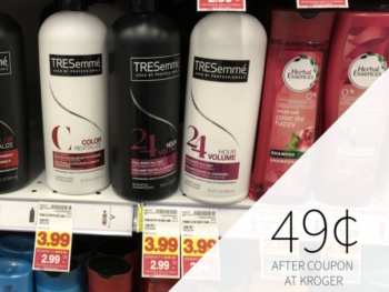 Tresemme Shampoo or Conditioner As Low As 49¢ At Kroger