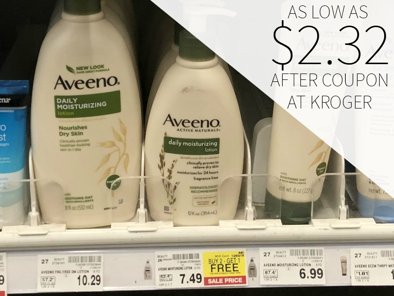 Aveeno Body Lotion As Low As $2.32 Each At Kroger