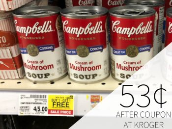 Campbell's Condensed Soup Just 53¢ Per Can At Kroger