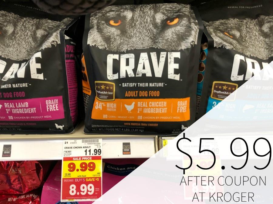 Crave Dry Dog Food Just .99 At Kroger
