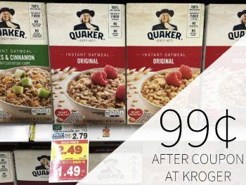 Quaker Instant Oatmeal Just 99¢ Per Box At Kroger 1