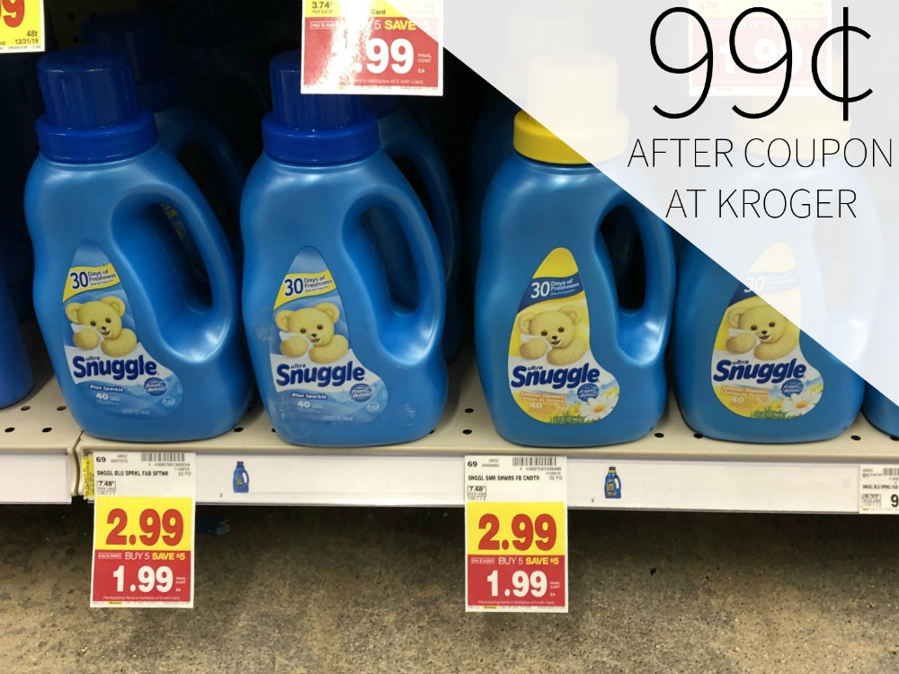 Snuggle Fabric Softener Just 99¢ At Kroger