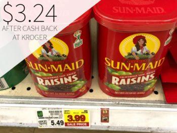 Sun-Maid Raisins Just $3.24 At Kroger