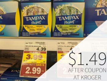 Tampax Pocket Pearl Just $1.49 At Kroger