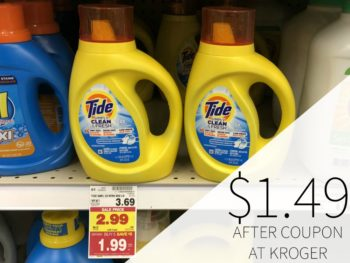 Tide Simply Laundry Detergent Just $1.49 At Kroger