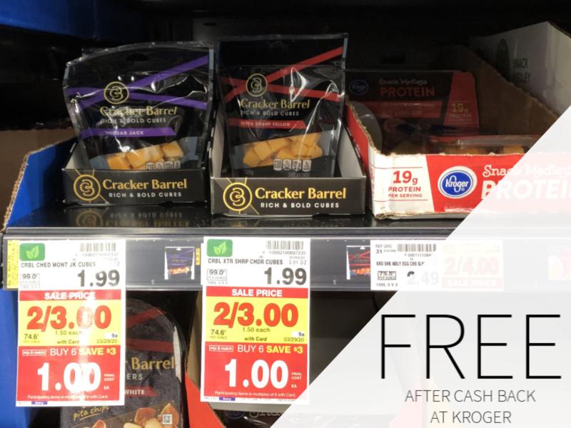 FREE Cracker Barrel Cheese Cubes At Kroger