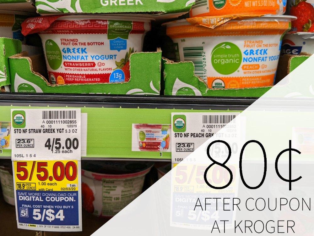 Simple Truth Organic Greek Yogurt Just 80¢ Per Cup At Kroger