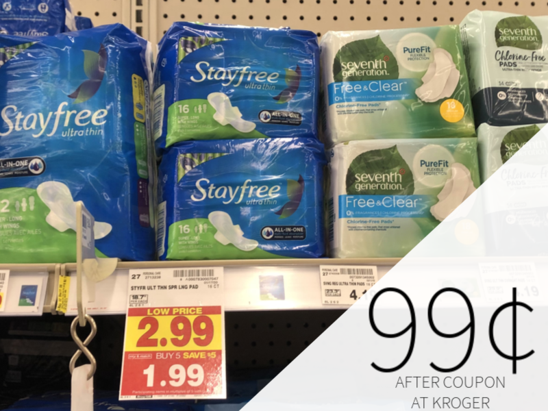 Stayfree Pads & Carefree Liners Only 99¢ At Kroger 1