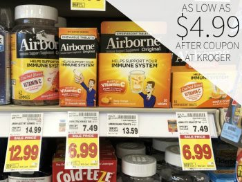 Airborne As Low As $4.99 At Kroger