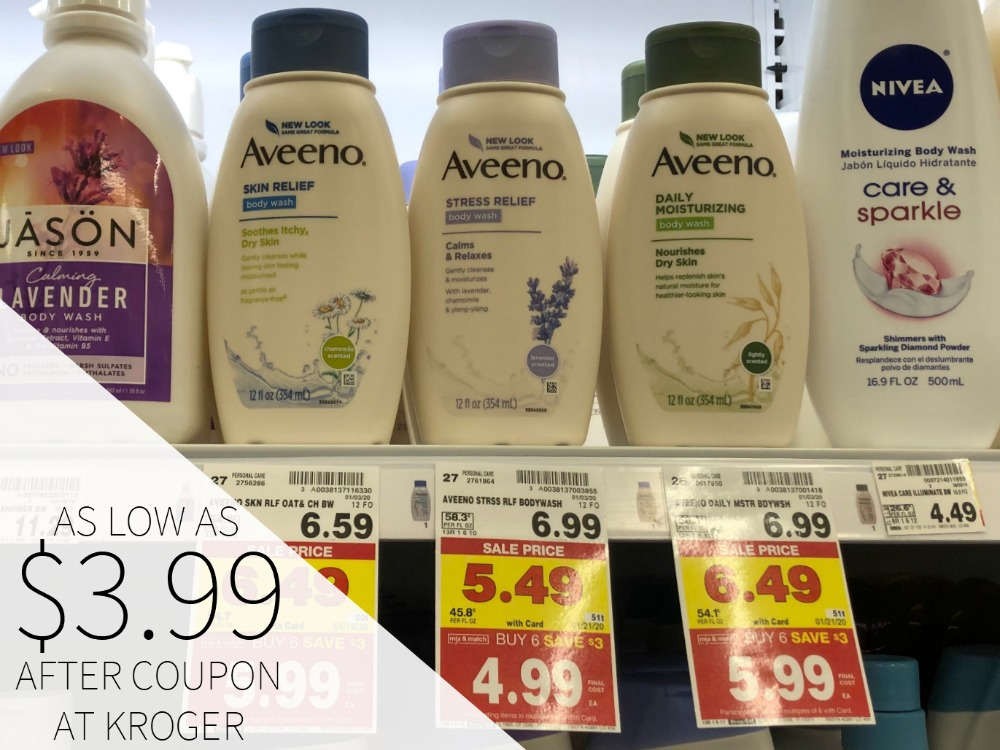 New Aveeno Coupons - Body Wash As Low As $3.99 At Kroger