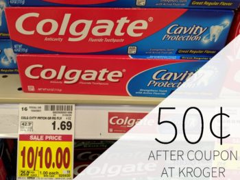 Colgate Toothpaste Just 50¢ Per Tube At Kroger
