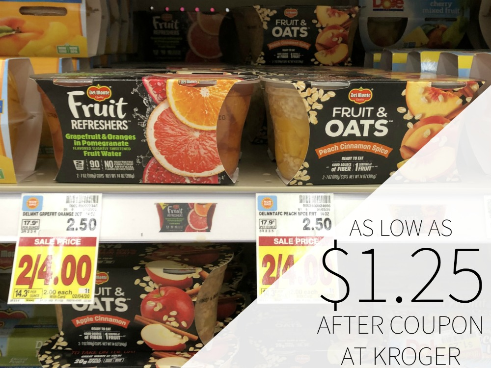 Del Monte Fruit Cups As Low As .25 At Kroger 1