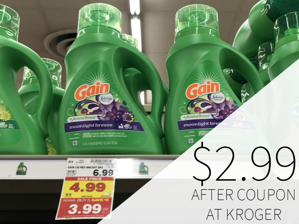 Gain Laundry Detergent Just $2.99 At Kroger