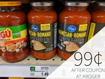 Kroger Pasta Sauce Just 99¢ At Kroger 1