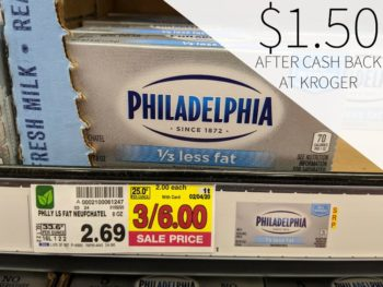 Philadelphia Cream Cheese As Low As $1.50 At Kroger