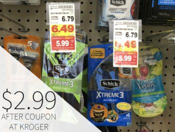 Schick Disposable Razors Just $2.99 At Kroger