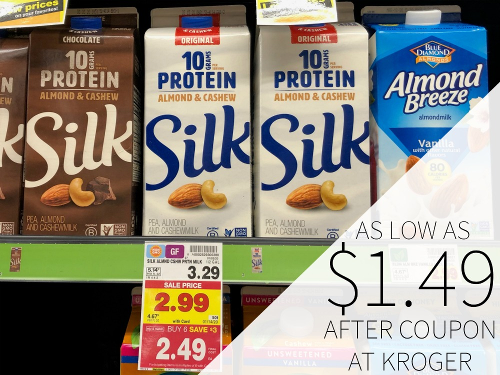 Silk Plant Based Milk As Low As $1.49 At Kroger
