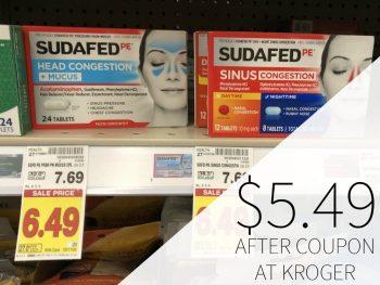 New Sudafed Coupon - Sudafed PE Just $5.49 At Kroger