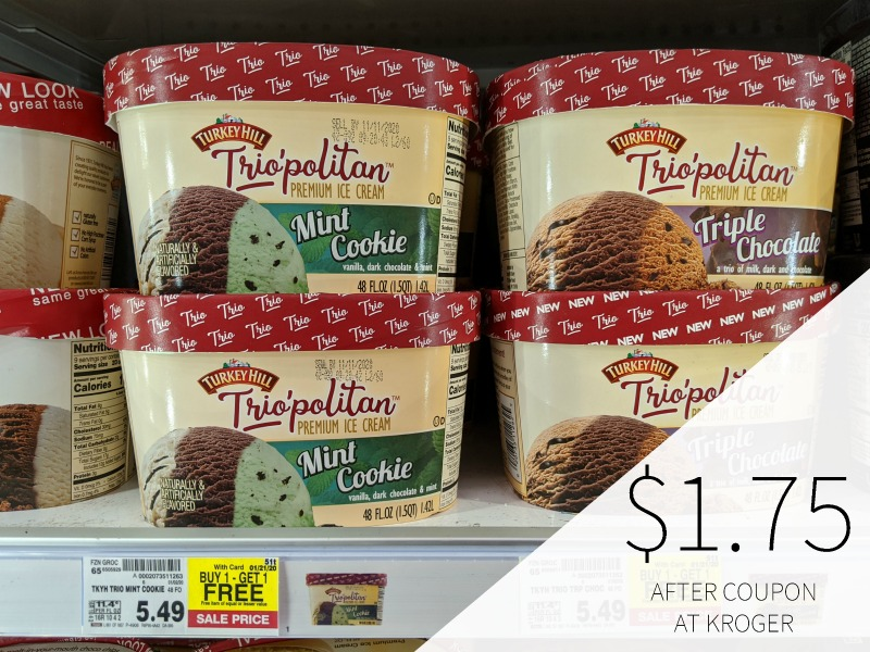 Turkey Hill Trio'politan Ice Cream Just $1.75 Each At Kroger