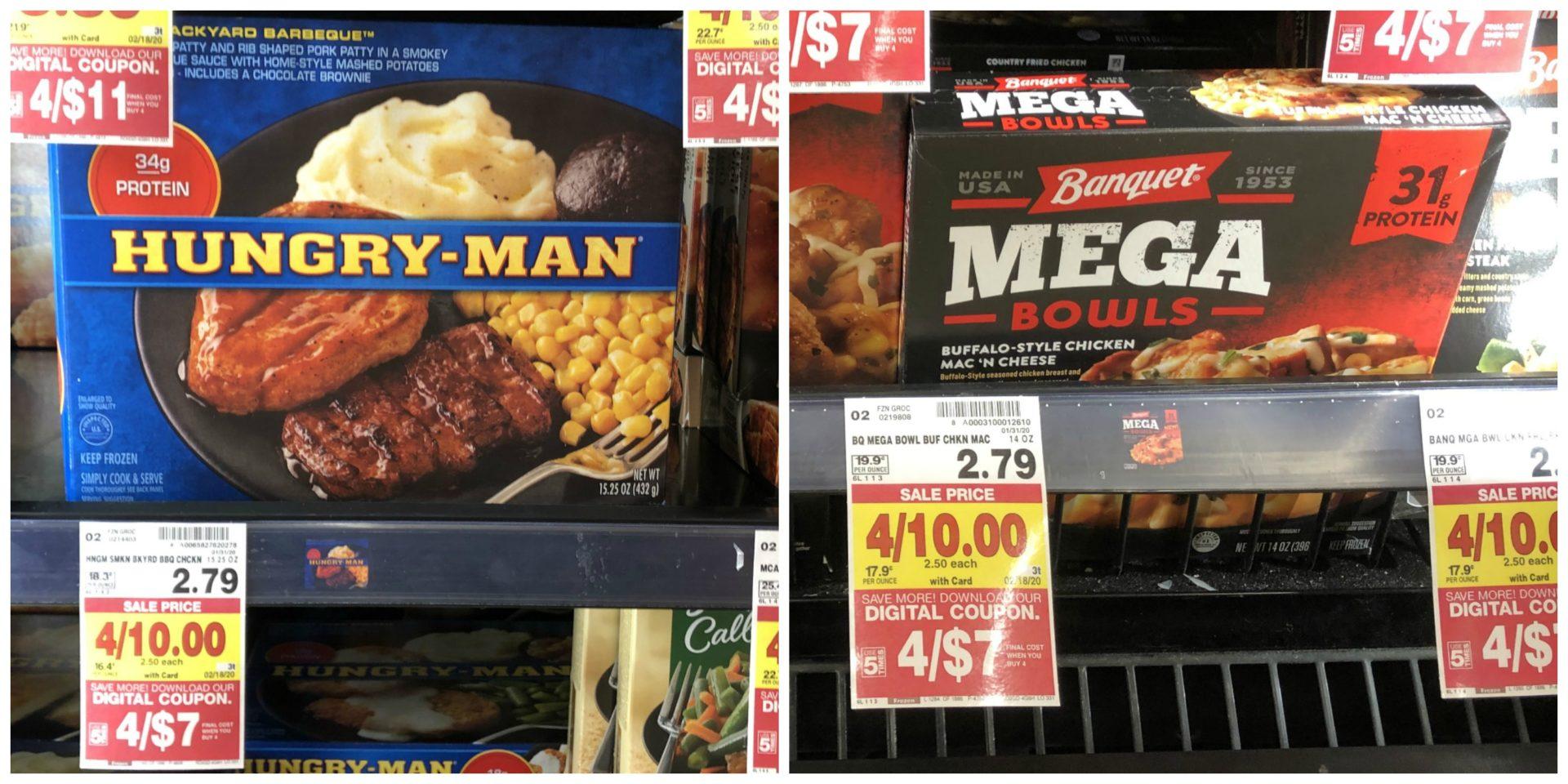 Marie Callender's, Hungry-Man, & Banquet Mega Bowls Only $1.75 At Kroger