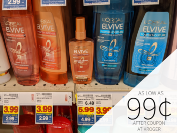 L'Oreal Elvive As Low As 99¢ At Kroger