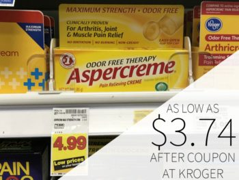 Aspercreme As Low As $3.74 At Kroger