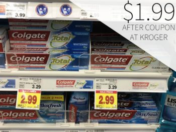 Colgate Total SF Toothpaste Just $1.99 At Kroger
