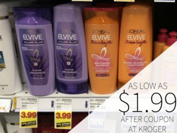 L'Oreal Paris Elvive Haircare As Low As $1.99 Each At Kroger