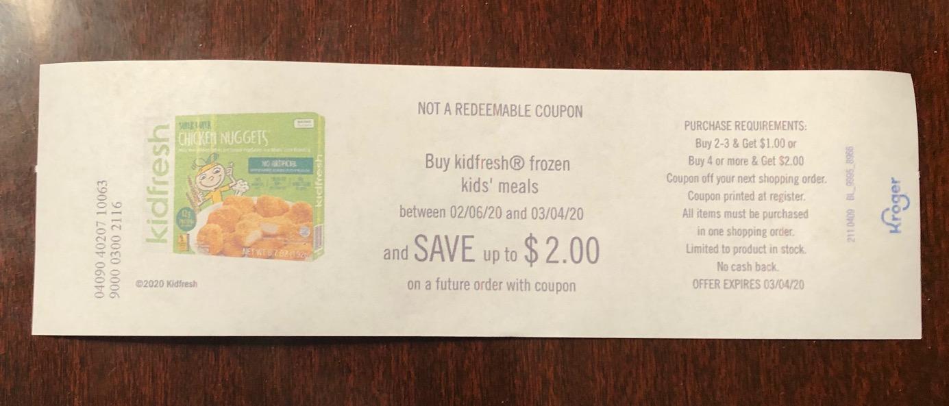 Kidfresh Frozen Meals As Low As $2.89 At Kroger 1