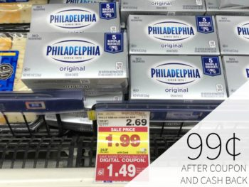 Philadelphia Cream Cheese Just 99¢ At Kroger