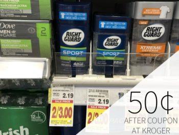 Right Guard Sport Deodorant Just 50¢ At Kroger