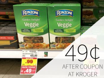 Ronzoni Pasta Just 49¢ At Kroger
