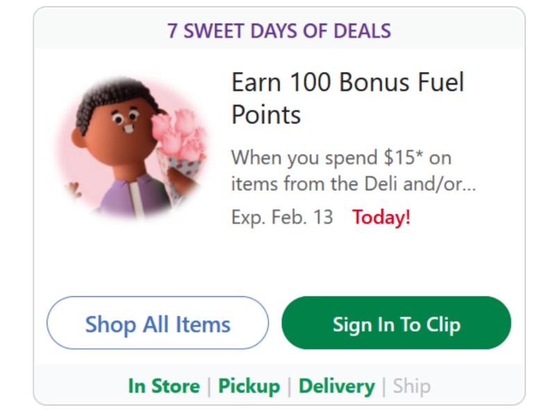 7 Sweet Days of Deals - Earn 200 Bonus Fuel Points
