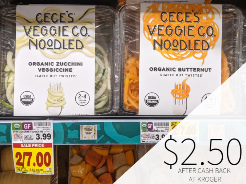 Cece's Veggie Co. Veggie Spirals Only .50 At Kroger