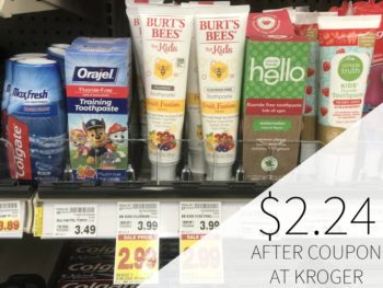 Burt's Bees Kids Toothpaste Just $2.24 At Kroger